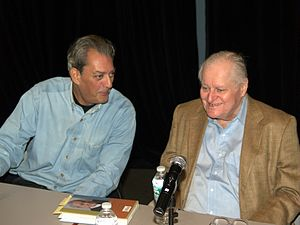 English: Paul Auster and John Ashbery at the 2...