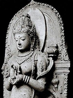 A statue of Prajñāpāramitā personified, from S...