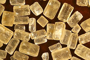 Brown sugar crystals