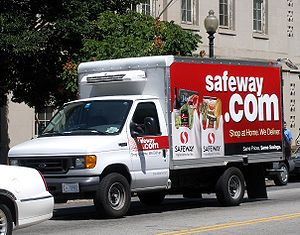 A Safeway.com delivery truck (operated by Safe...