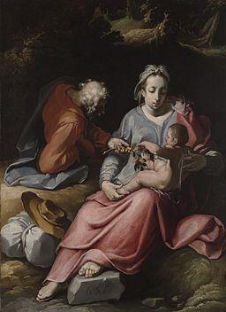 The Holy Family by Cornelis van Haarlem 1590