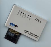Lector de tarjetas de memoria por USB.