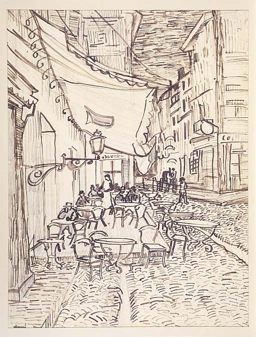 """Café Terrace at Night"" by Vincent van Gogh"