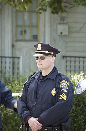 A Watertown police officer on duty outside 39 ...
