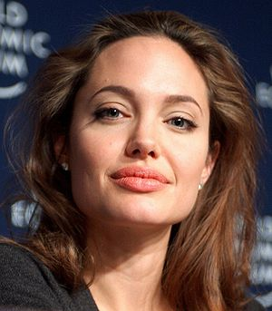 DAVOS/SWITZERLAND, 29JAN05 - Angelina Jolie, G...