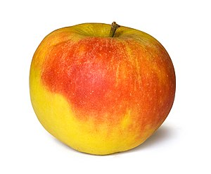 Apple with white background