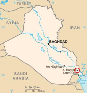 Location of Basra