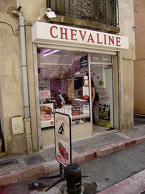 A butcher shop specializing in horse meat in P...