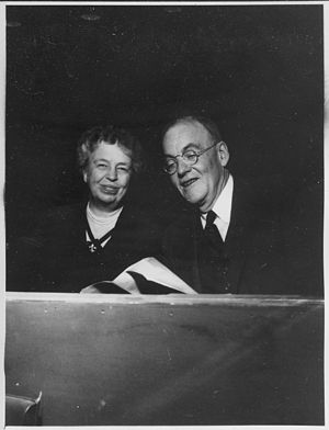 Eleanor Roosevelt and John Foster Dulles at Un...