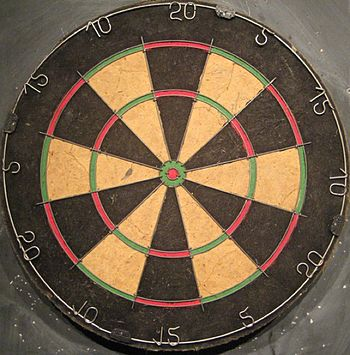 What's odd about this dartboard?