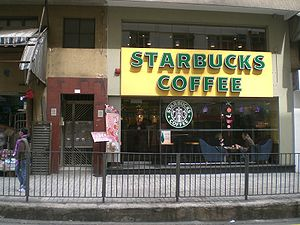 HK Central Mid-Level Caine Road Starbucks Coff...