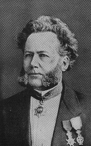 Portrait of a younger Henrik Ibsen, one of the...