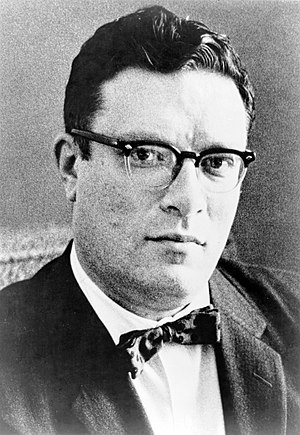 Dr. Isaac Asimov, head-and-shoulders portrait,...