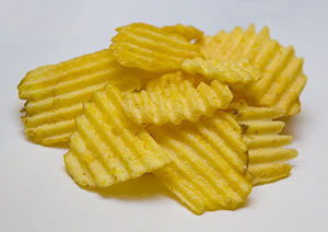 A Pile of The Real McCoy's Potato Chips