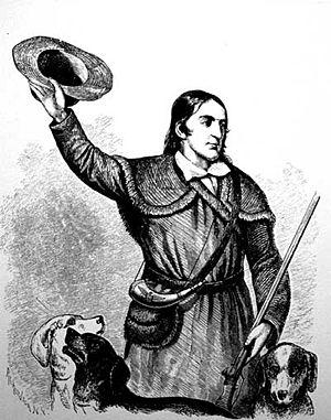 Portrait of Davy Crockett1834