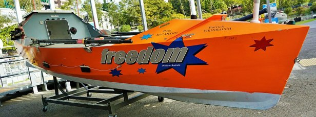 Queensland Maritime Museum -  Freedom - Atlantic Rowing Race Boat