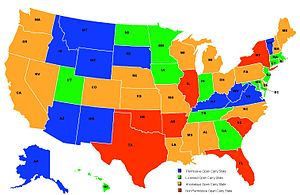 Vermont U S Concealed Carry Information - Us-ccw-map