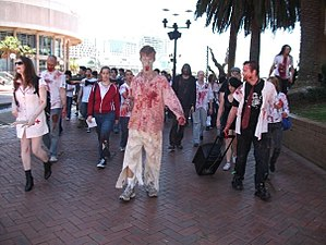 Zombies involved in the Epic Zombie Lurch held...