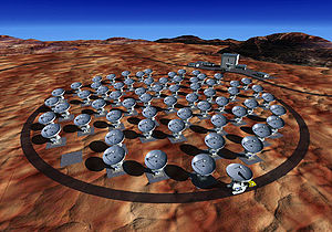 Artist's concept of the Atacama Large Millimet...