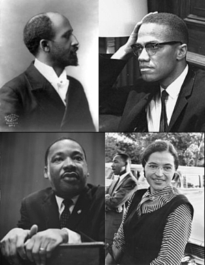 Prominent figures of the African-American Civi...