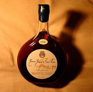 A bottle of armagnac