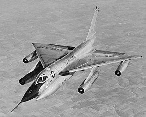 B-58 Hustler in flight