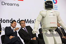 Peña Nieto and Takanobu Ito at the inauguration of the Honda plant in Celaya, Guanajuato on 21 February 2014.