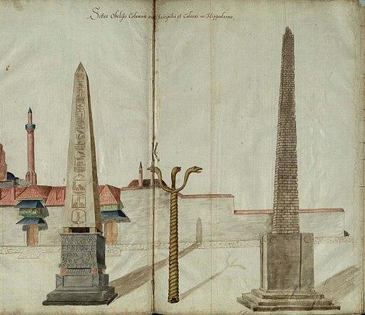 Freshfield Album fol 20 - Obelisk of Theodosius, Serpent Column, Walled Obelisk