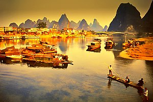The Lijiang River, Guilin, China, 1988.