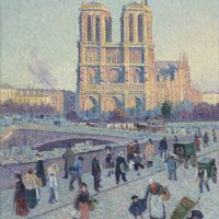 """The Quai Saint-Michel and Notre-Dame"" by Maximilien Luce"