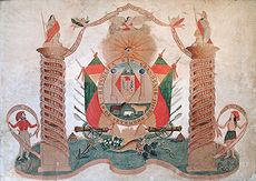 Alegoria Farroupilha, guache do século XIX. Acervo do Museu Júlio de Castilhos