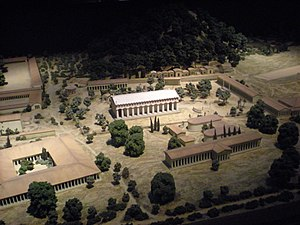 Architectural model of the enclosure of the sa...