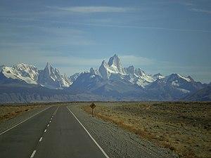 Español: Ruta Provincial 23 en El Chaltén, San...