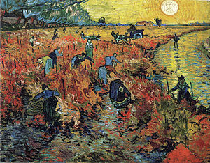 English: Red Vineyards near Arles (1888), the ...