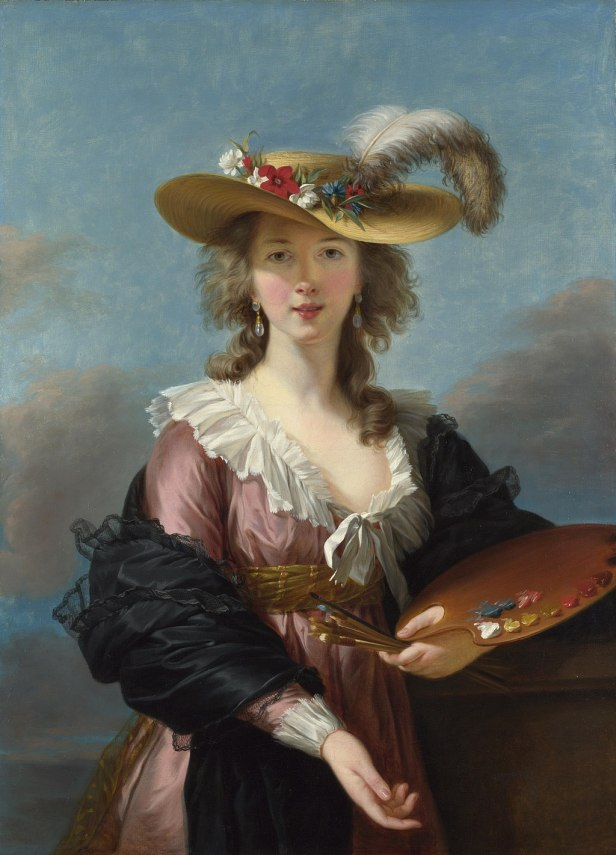Self-portrait in a Straw Hat by Elisabeth-Louise Vigée-Lebrun