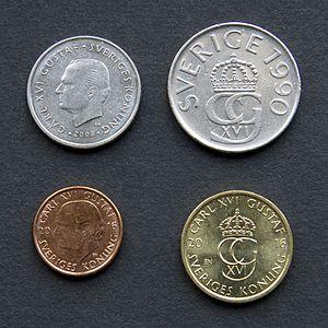 瑞典新舊硬幣 New and old coins in Sweden