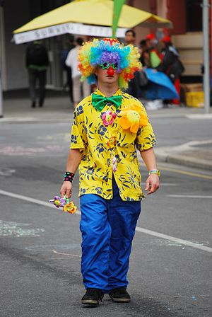 Clown at the 2008, Adelaide Christmas Pageant