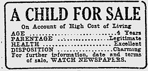 English: Advertisement for 1920 silent film, &...