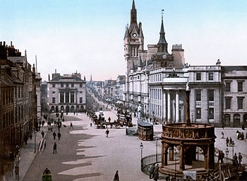 Castle Street and municipal buildings, , Scotland