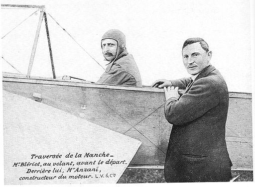 Blériot et Anzani avant la traversée de la Manche