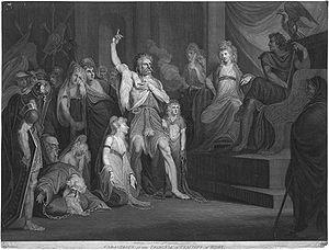 English: Caractacus at the Tribunal of Claudiu...