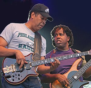 English: Stanley Clarke and Victor Wooten in T...