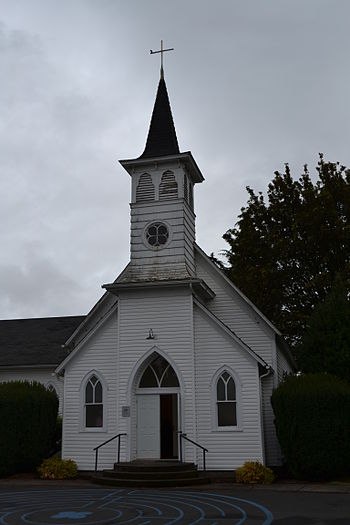 English: Faith Lutheran Church 1908 (Junction ...