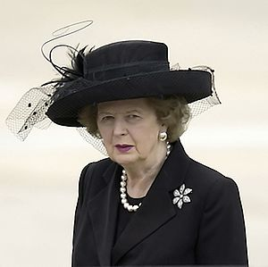 Margaret Thatcher, former Prime Minister of th...