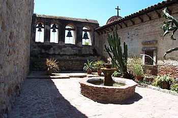 """A view of Mission San Juan Capistrano's """"..."""