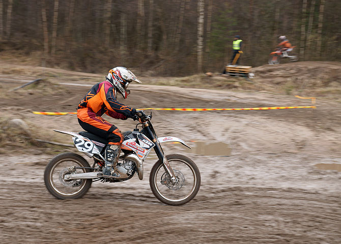 English: Competitor in Yyteri SM Motocross 201...