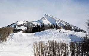 Mount Crested Butte located at 38.884° -106.94...