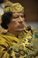 English: Muammar al-Gaddafi at the 12th AU sum...