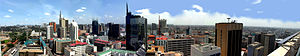 English: Nairobi (Kenya) Skyline from the city...