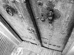 An old door (20th Century CE), Kashan, Iran